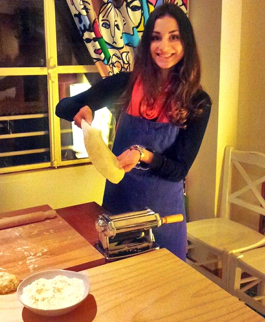 Pasta making class in Rome